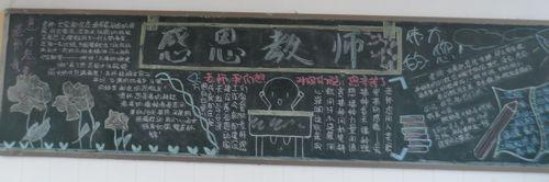 庆祝教师节,高二各班黑板报上表情意